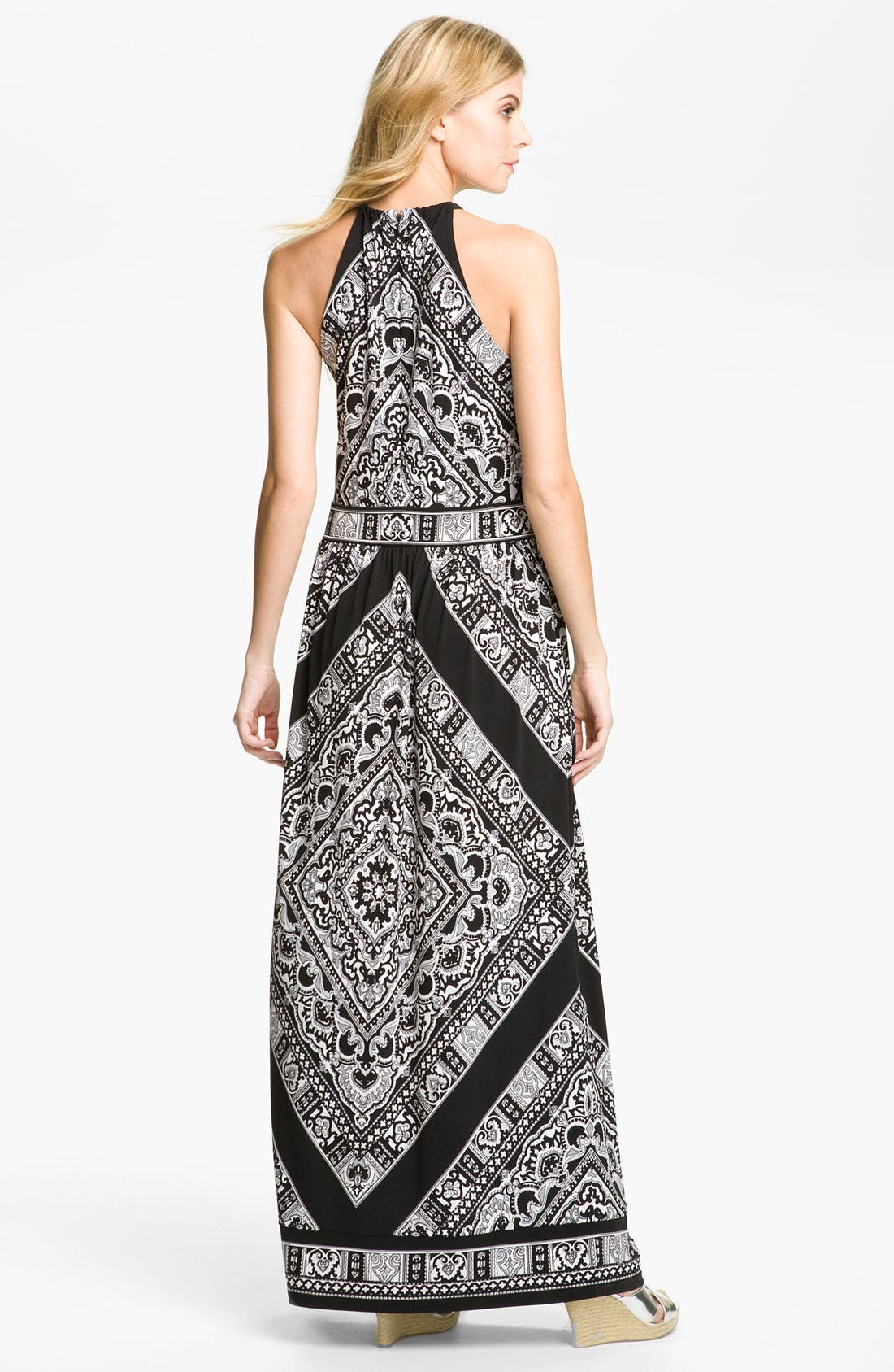 Alternate Image 2  - MICHAEL Michael Kors Leather Halter Maxi Dress