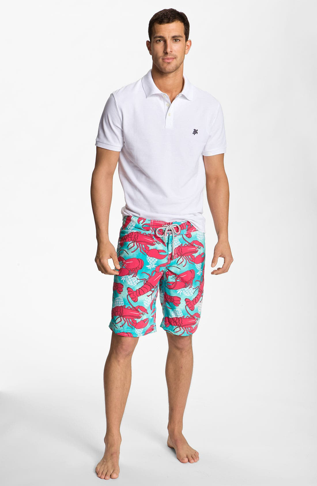 Alternate Image 4  - Vilebrequin 'Ocean Surfer' Lobster Print Board Shorts