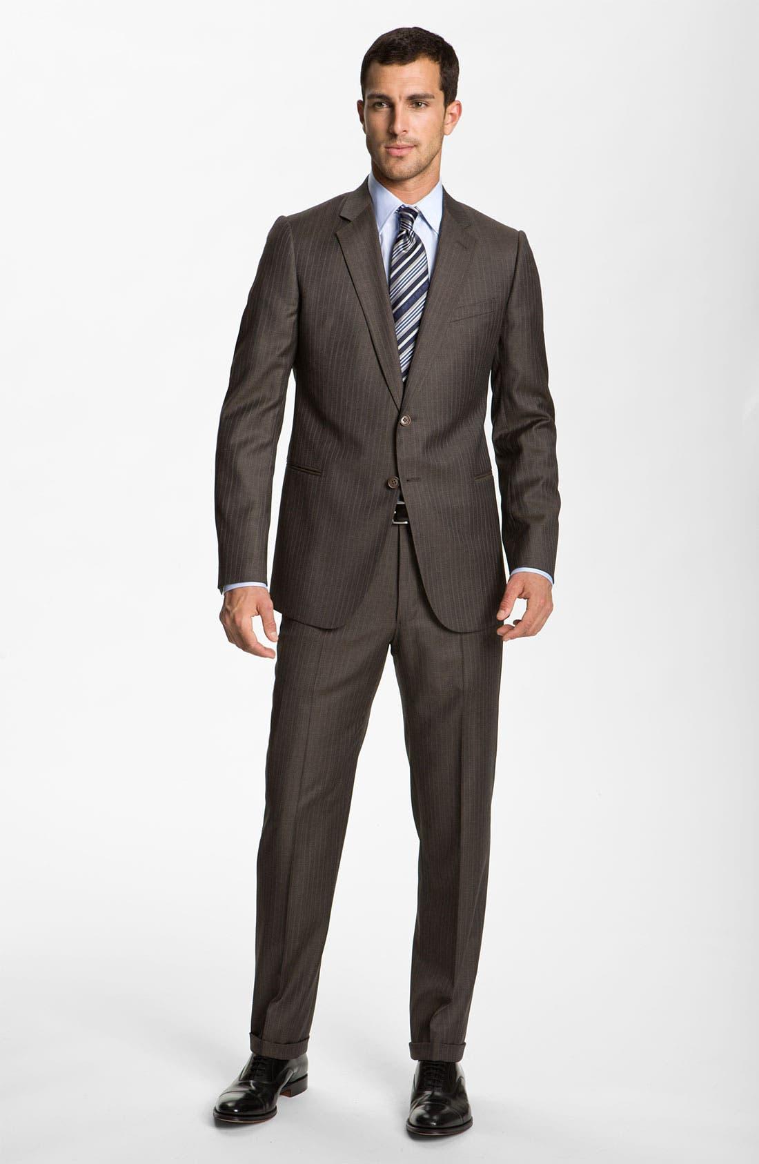 Alternate Image 2  - Armani Collezioni Stripe Wool Suit