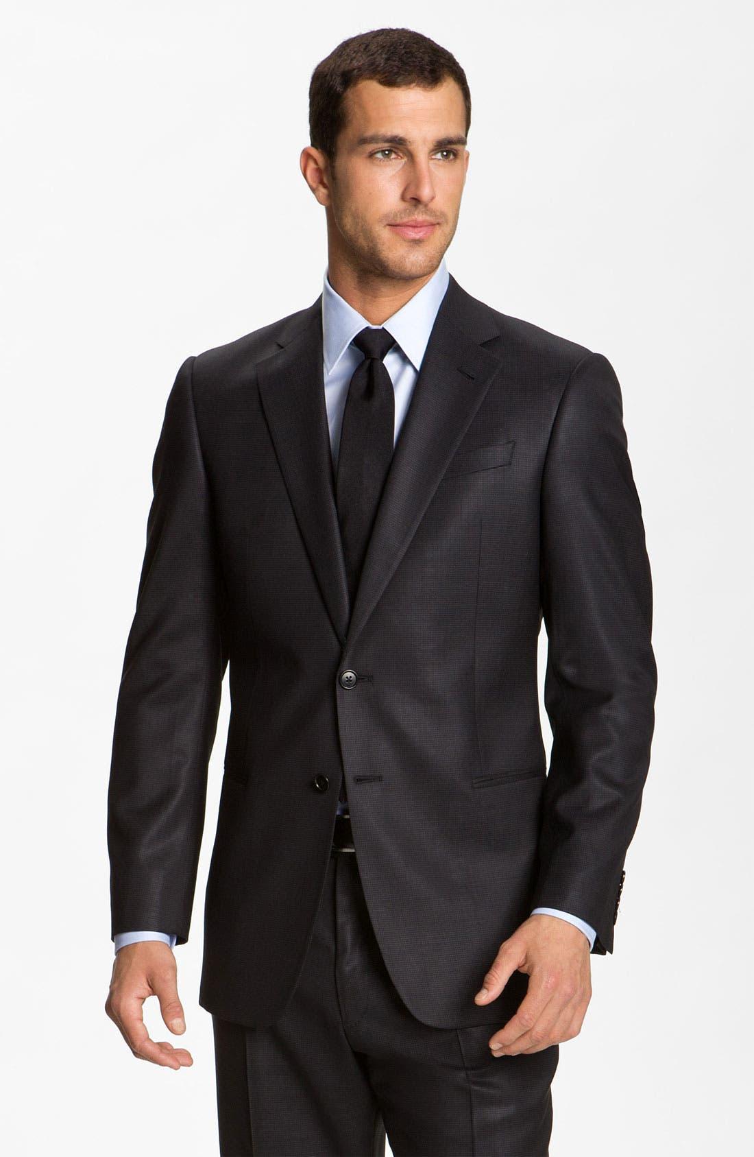 Main Image - Armani Collezioni 'Giorgio' Trim Fit Wool Suit
