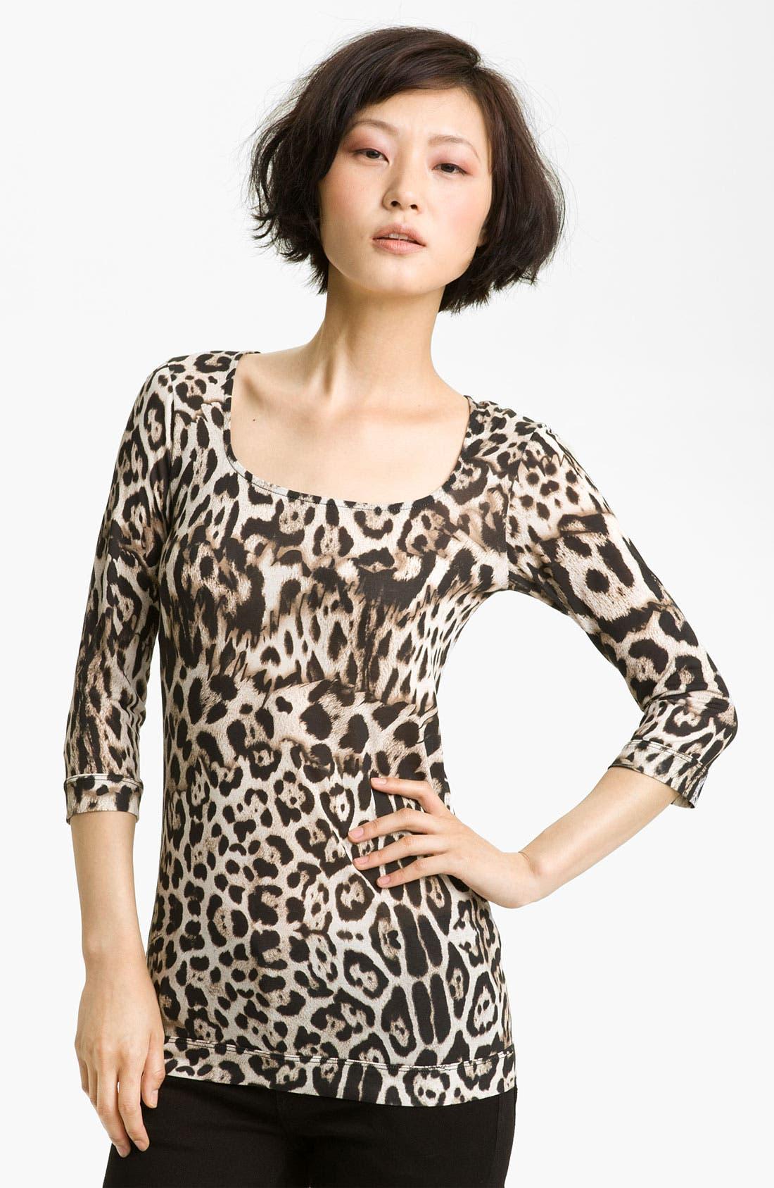 Alternate Image 1 Selected - Just Cavalli Leopard Print Tee