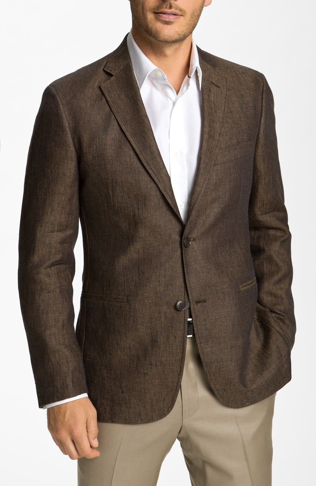 Alternate Image 1 Selected - Dekko Mode Linen Blazer