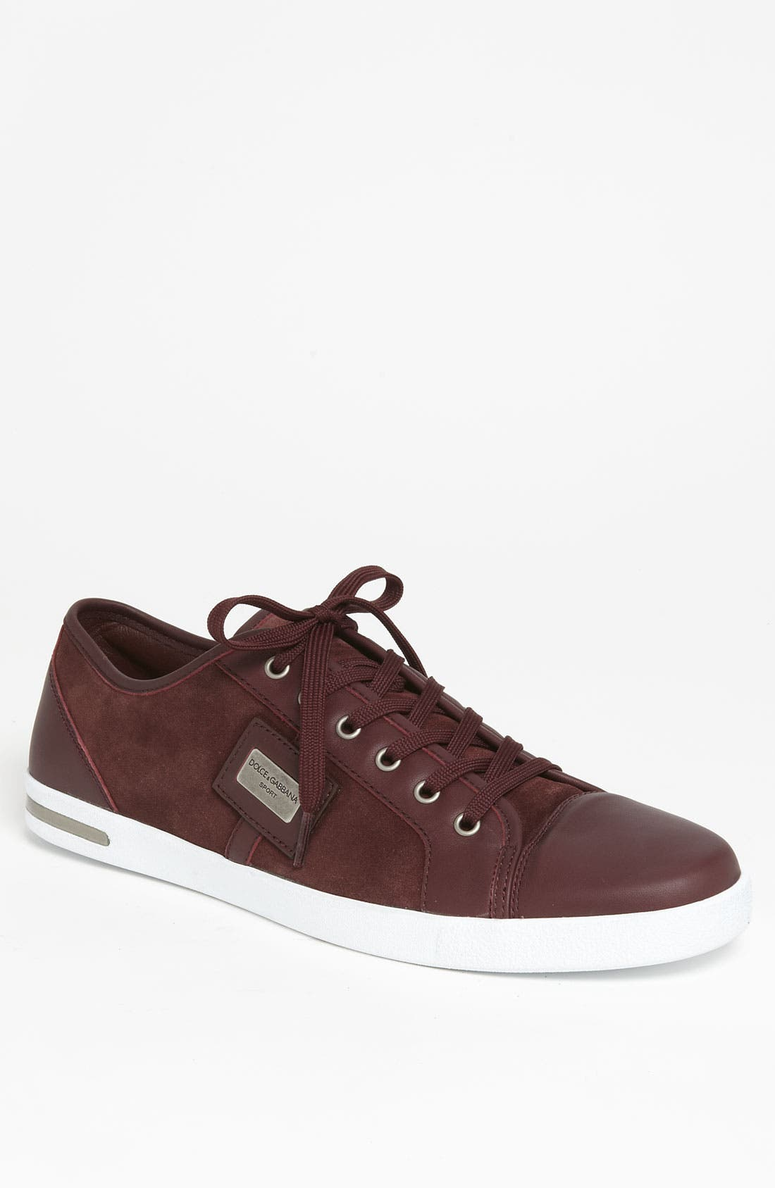Suede Sneaker,                             Main thumbnail 1, color,                             Red Suede