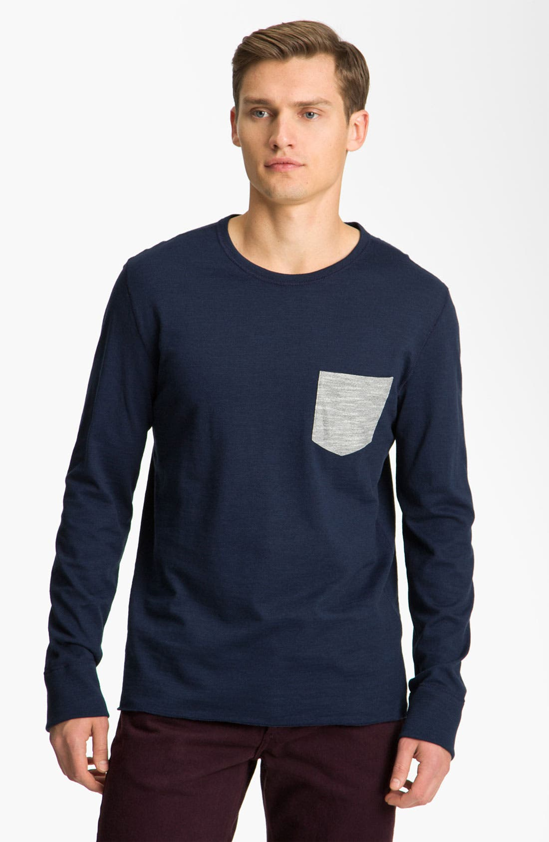 Main Image - rag & bone Long Sleeve Crewneck T-Shirt