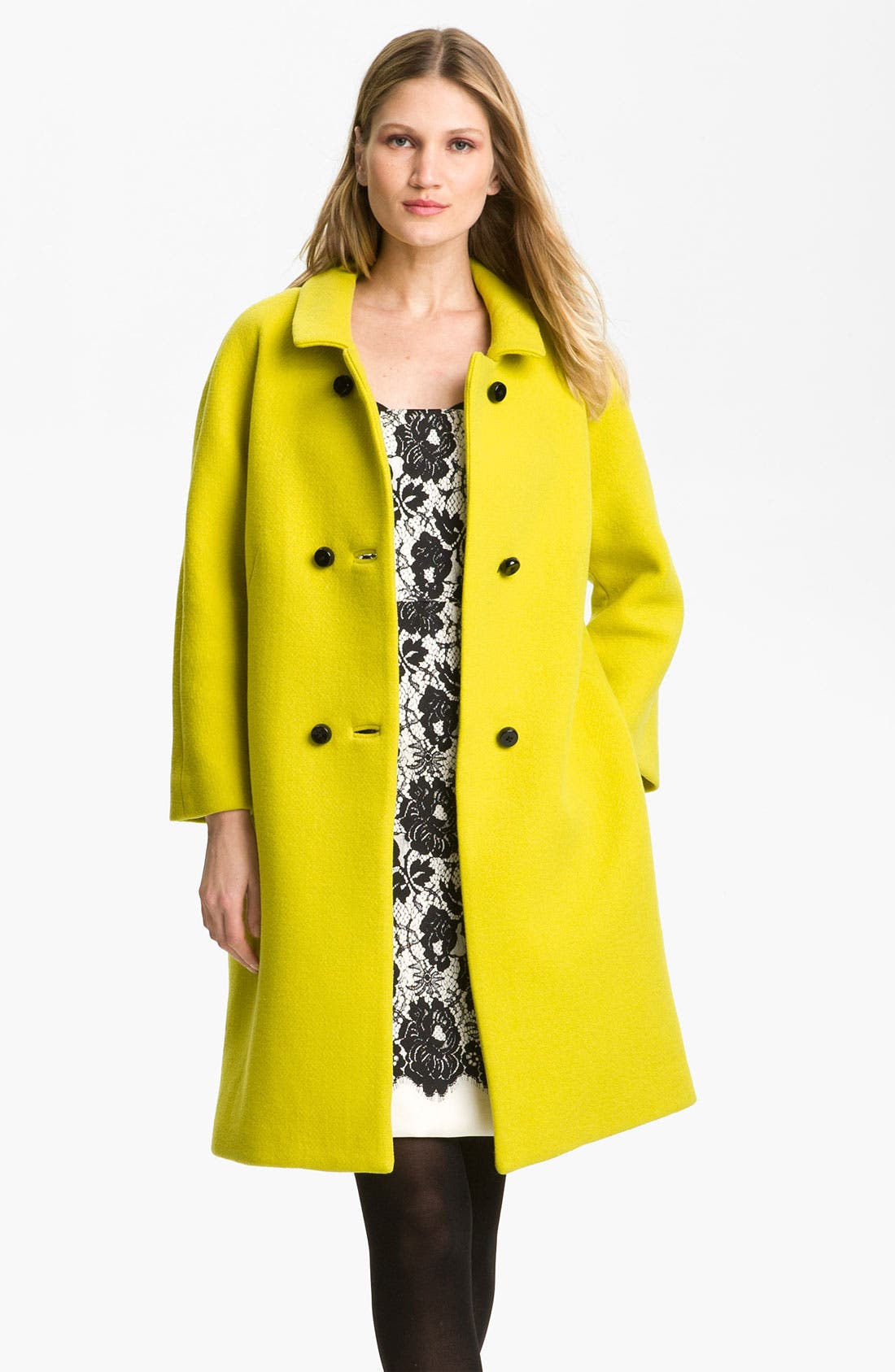 Main Image - Milly 'Alexis' Wool Blend Coat