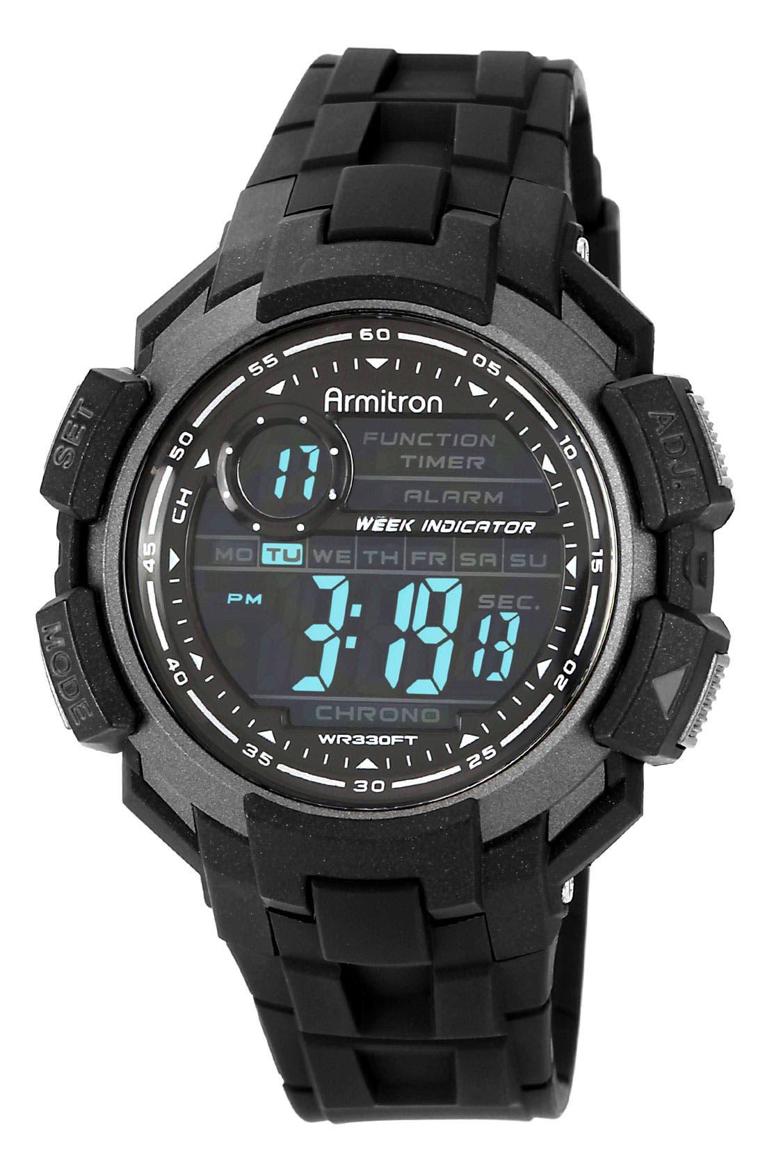 Main Image - Armitron Digital Resin Watch, 47mm