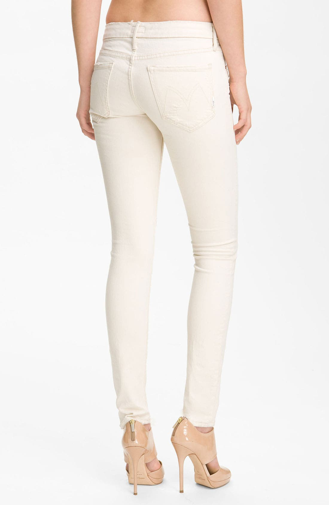 Alternate Image 2  - MOTHER 'The Looker' Skinny Stretch Jeans (Cream for a Day)