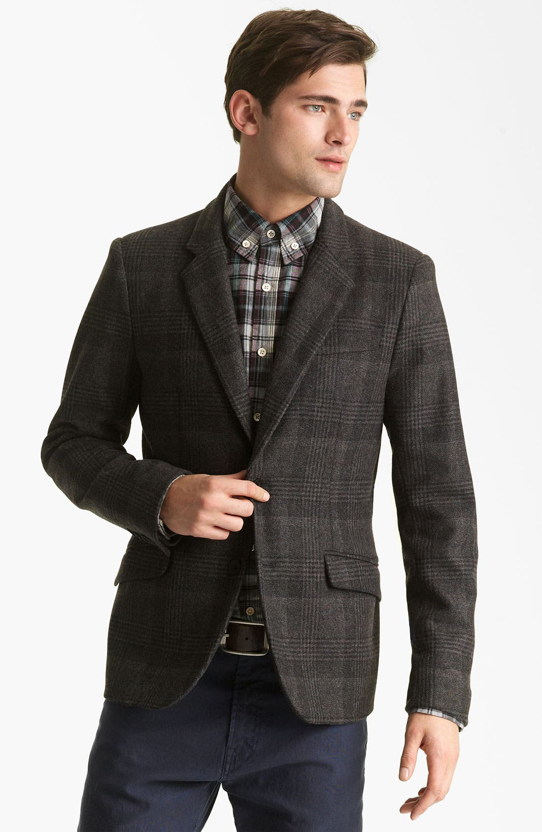 Alternate Image 1 Selected - Steven Alan Glen Plaid Blazer