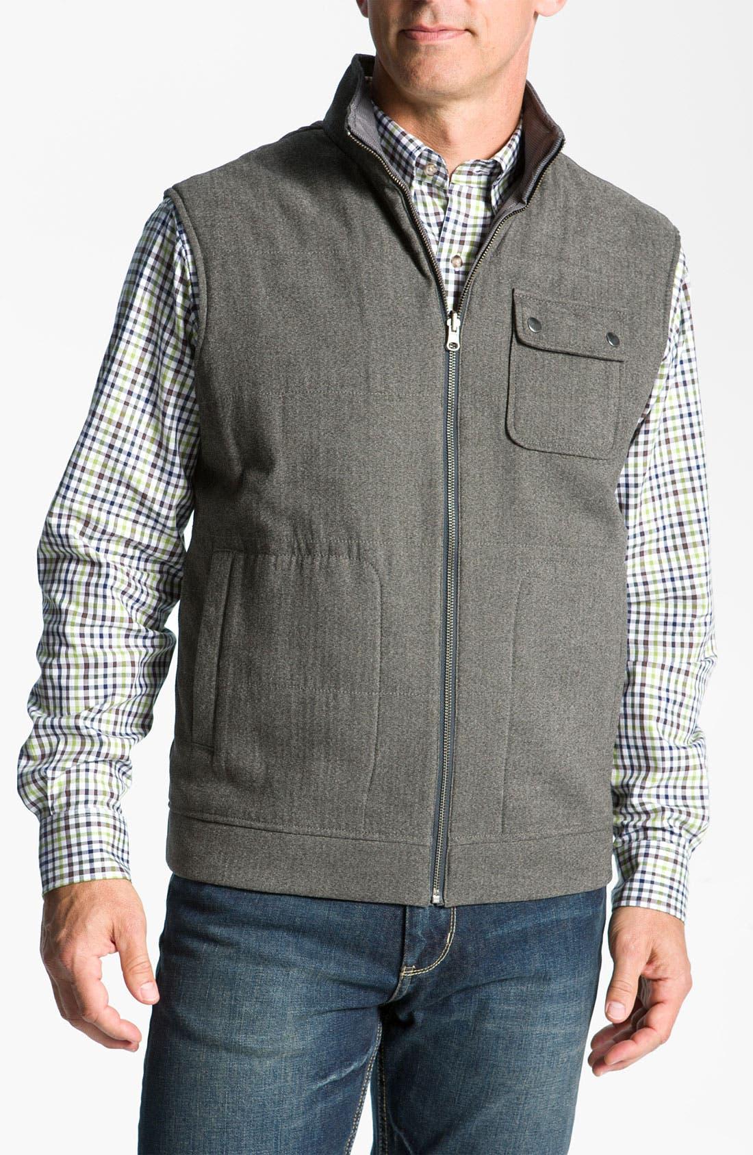 Main Image - Cutter & Buck 'Mount Baker' Reversible Vest (Big & Tall) (Online Only)