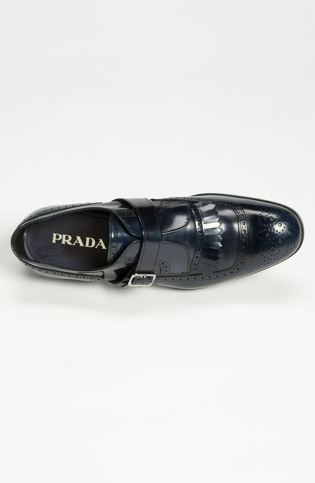 Alternate Image 3  - Prada Brogue Kiltie Monk Strap Shoe