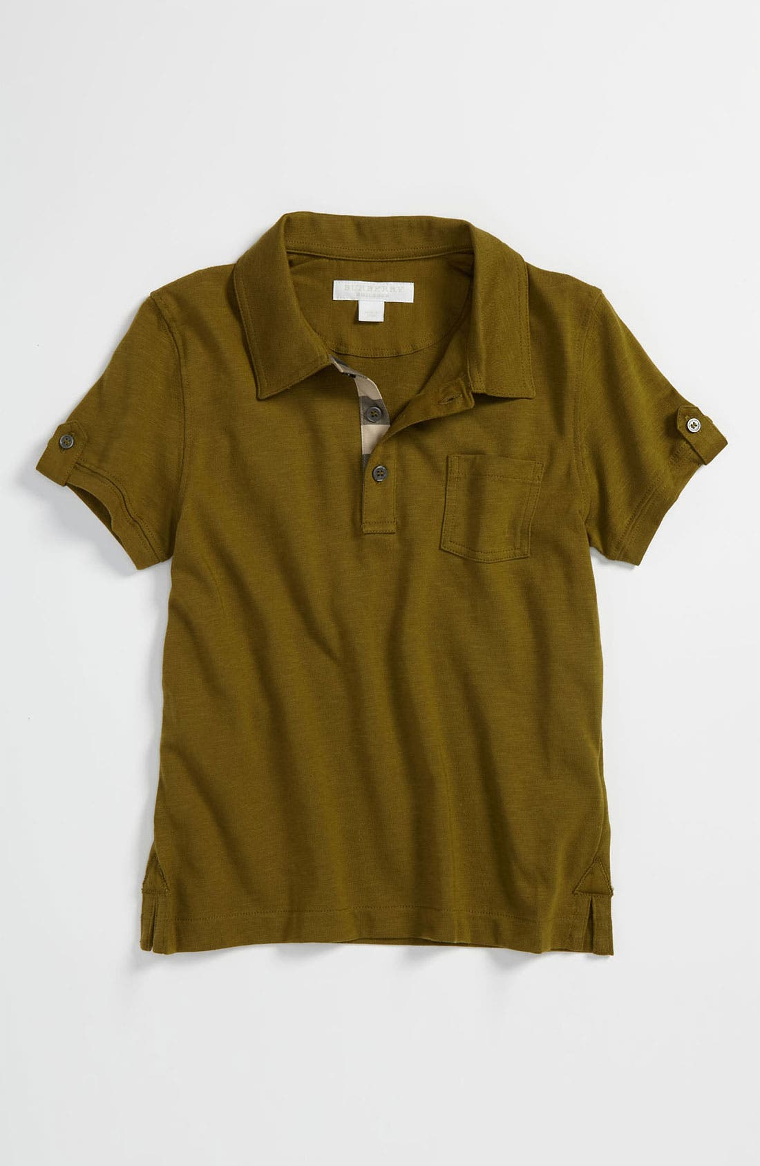 Main Image - Burberry Jersey Polo (Little Boys)