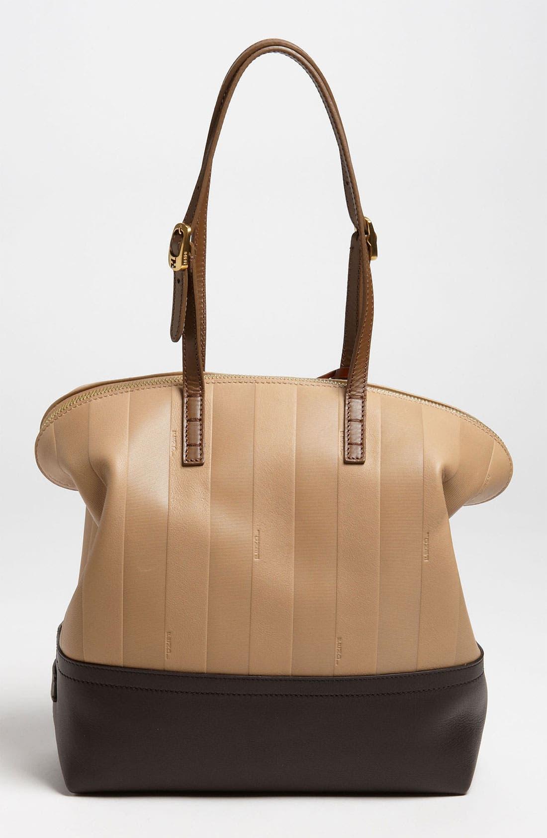 Alternate Image 4  - Fendi 'Paris Pequin - 2-Way' Leather Shopper