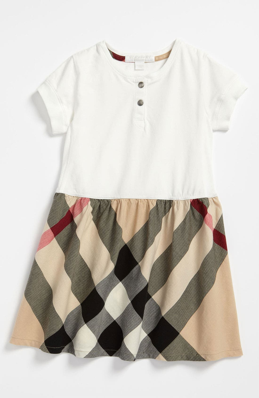 Main Image - Burberry Check Print Dress (Toddler)