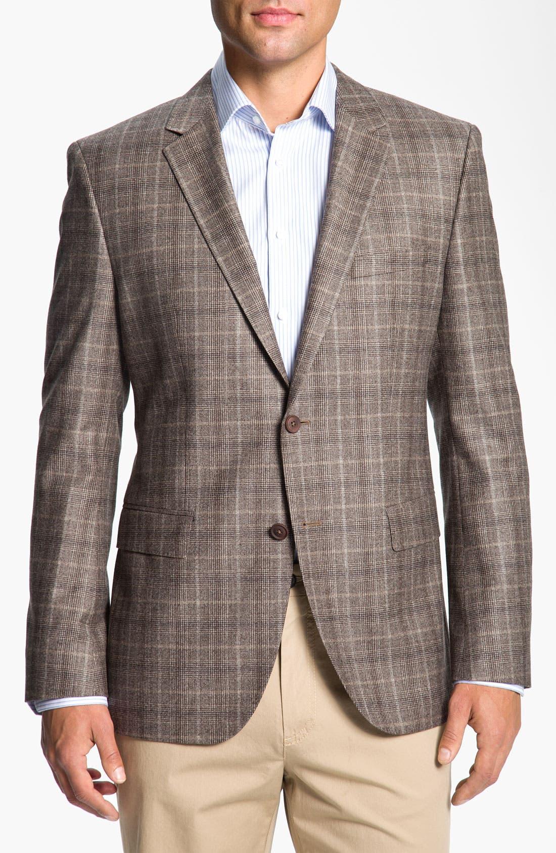 Main Image - BOSS Black 'Smith' Trim Fit Plaid Sportcoat