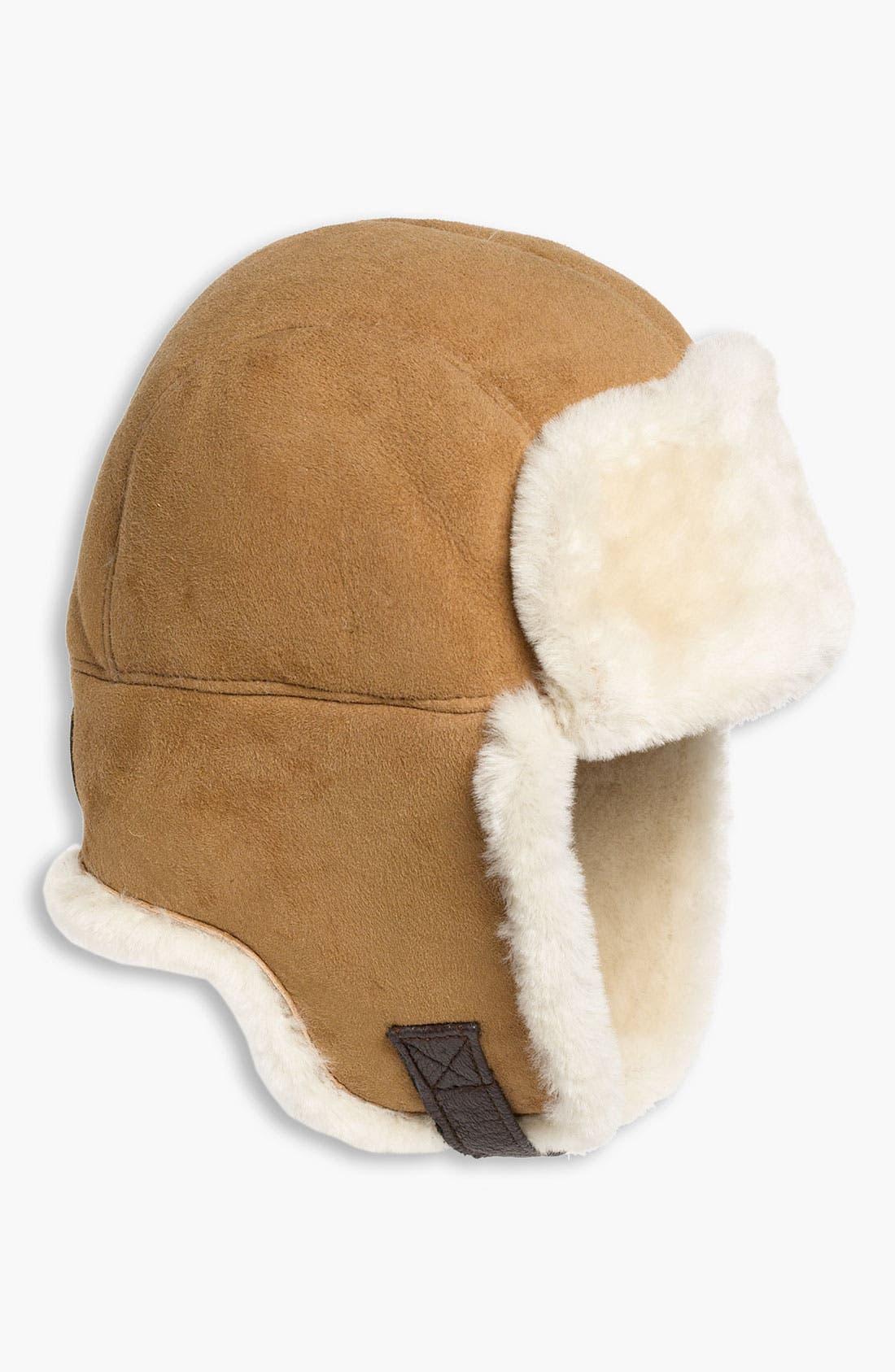 Alternate Image 1 Selected - UGG® Australia Genuine Shearling Trapper Hat