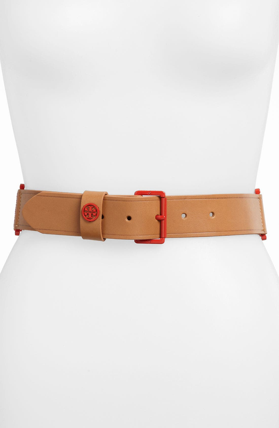 Alternate Image 1 Selected - Tory Burch Vachetta Leather Stretch Belt