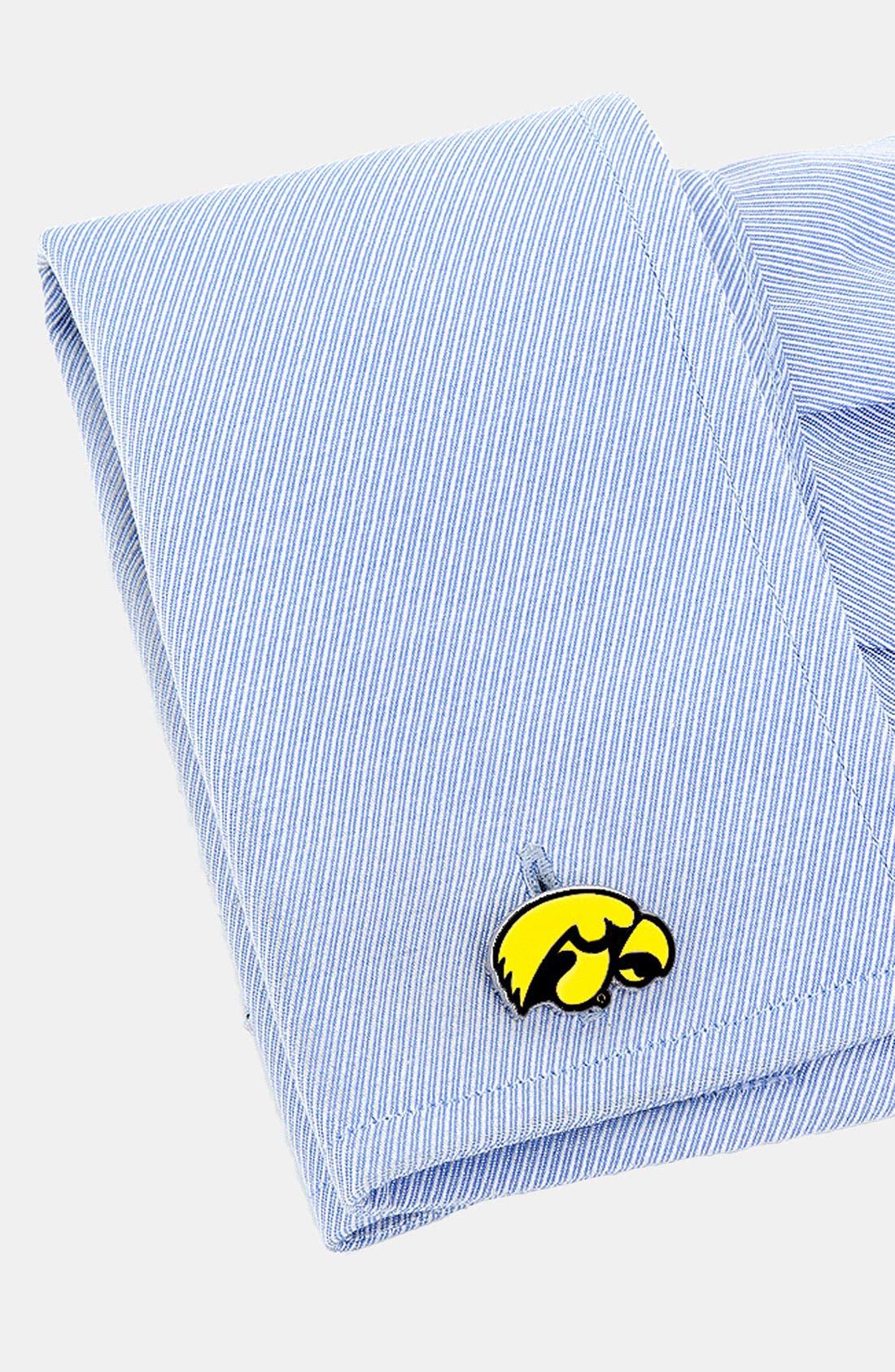 Alternate Image 2  - Cufflinks, Inc. 'University of Iowa Hawkeyes' Cuff Links