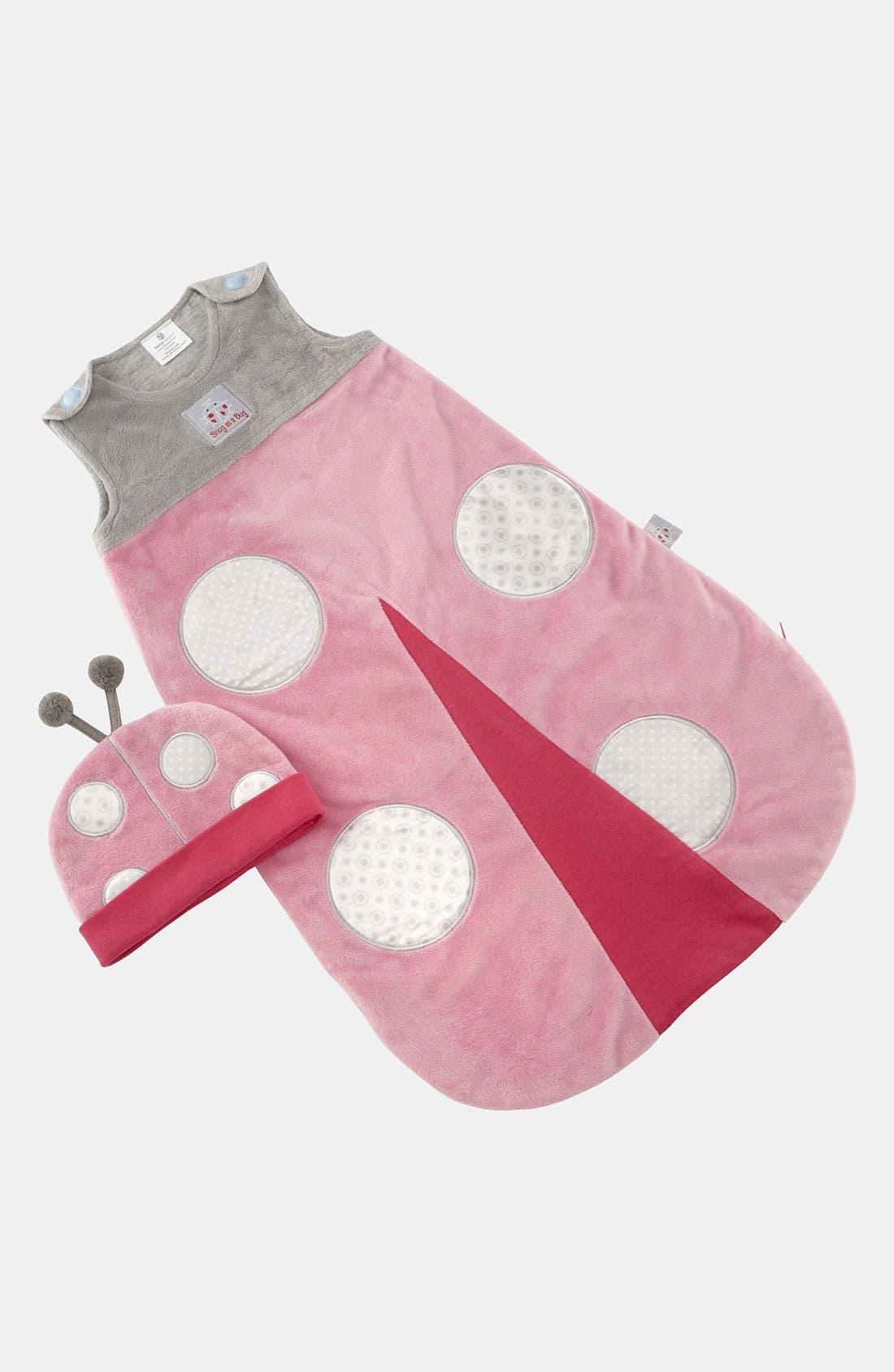 Main Image - Baby Aspen 'Snug as a Bug' Wearable Blanket & Hat (Baby)