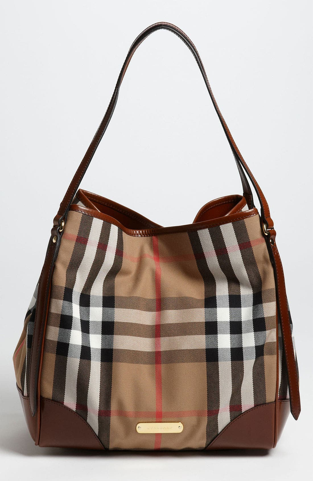 Alternate Image 1 Selected - Burberry 'House Check - Medium' Over Shoulder Tote