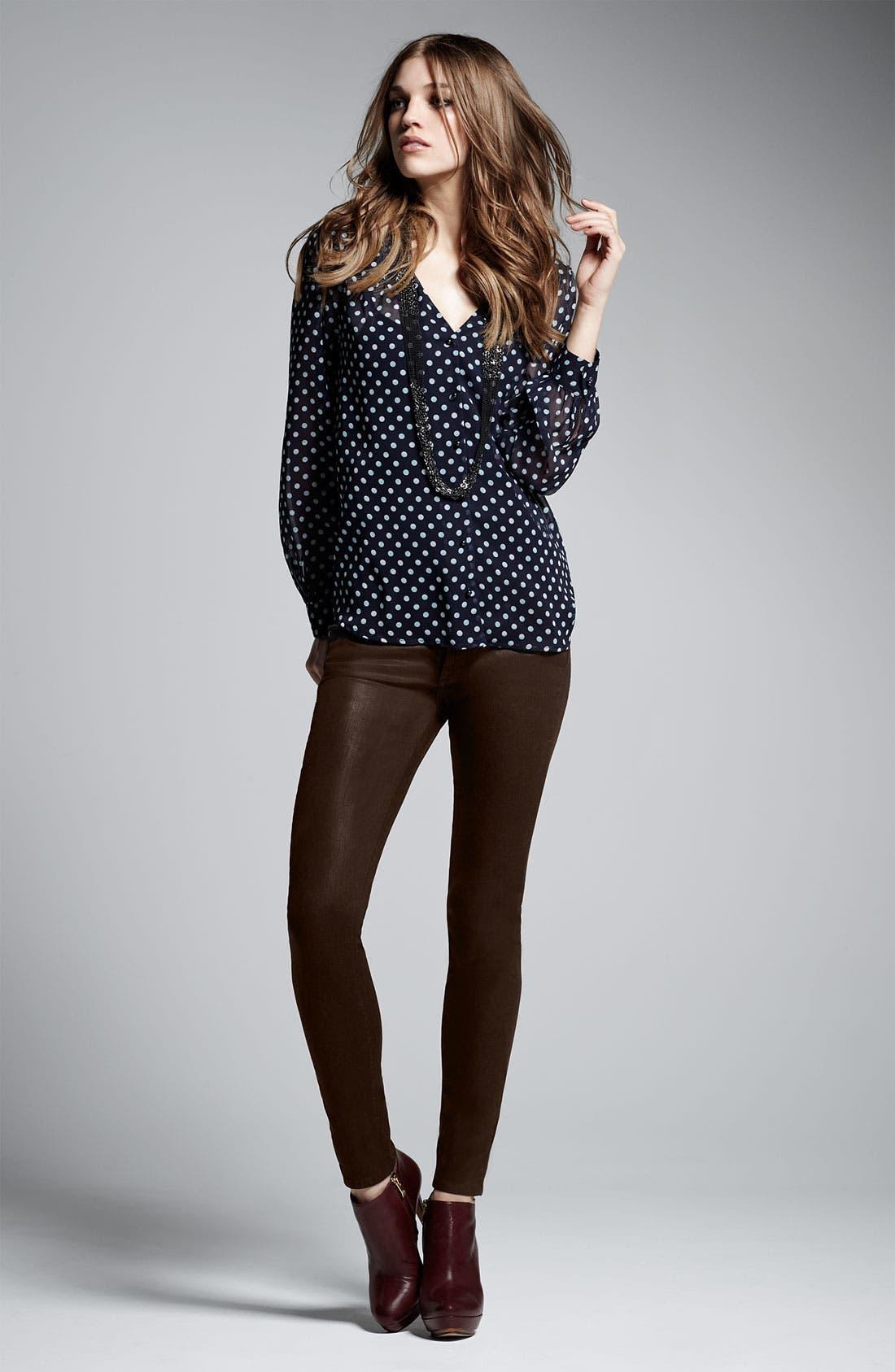Alternate Image 7  - Paige Denim 'Verdugo' Coated Skinny Jeans (Java)
