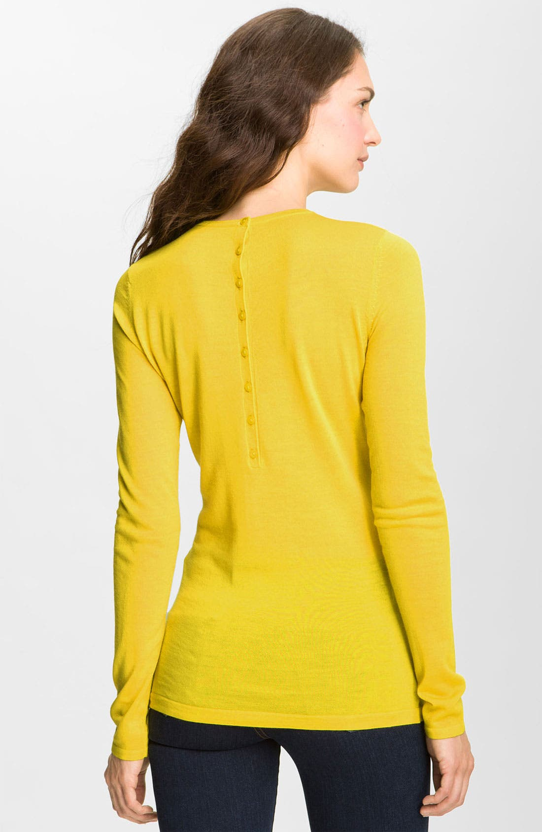 Refined Wool Crewneck Sweater,                             Alternate thumbnail 2, color,                             Yellow