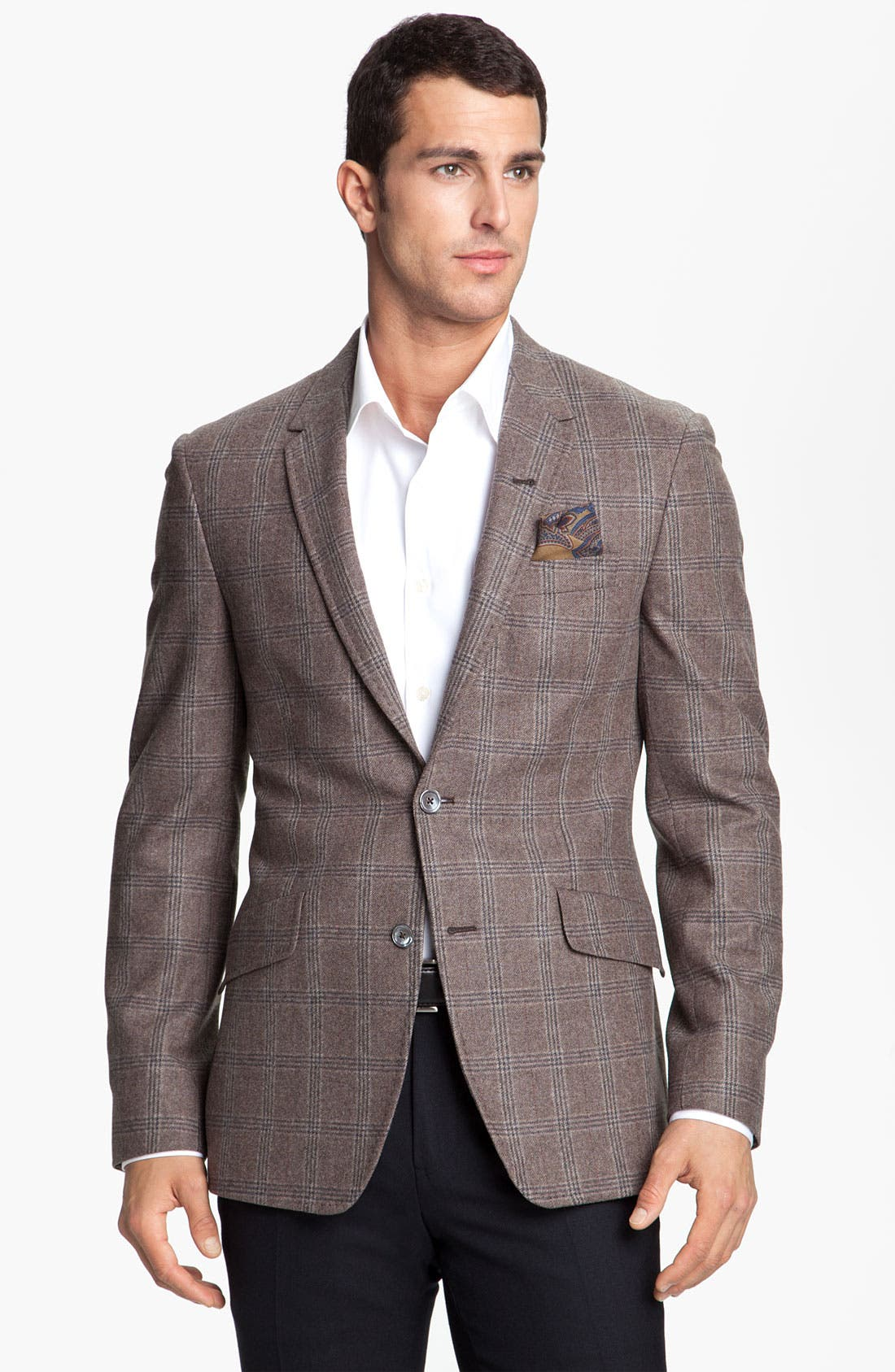 Main Image - Paul Smith London Windowpane Plaid Blazer