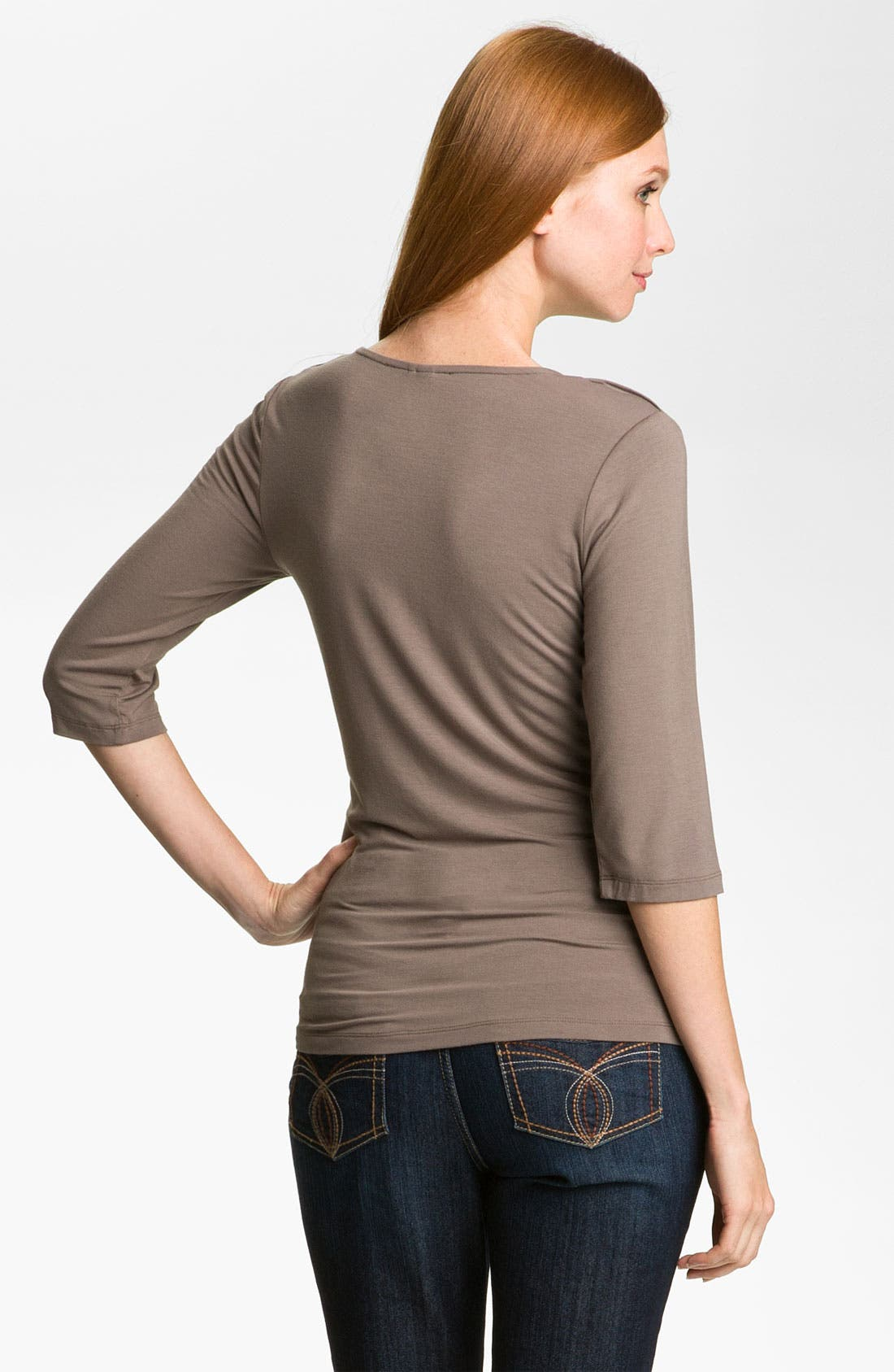 Alternate Image 2  - Kische Ruched Front Top (Petite)