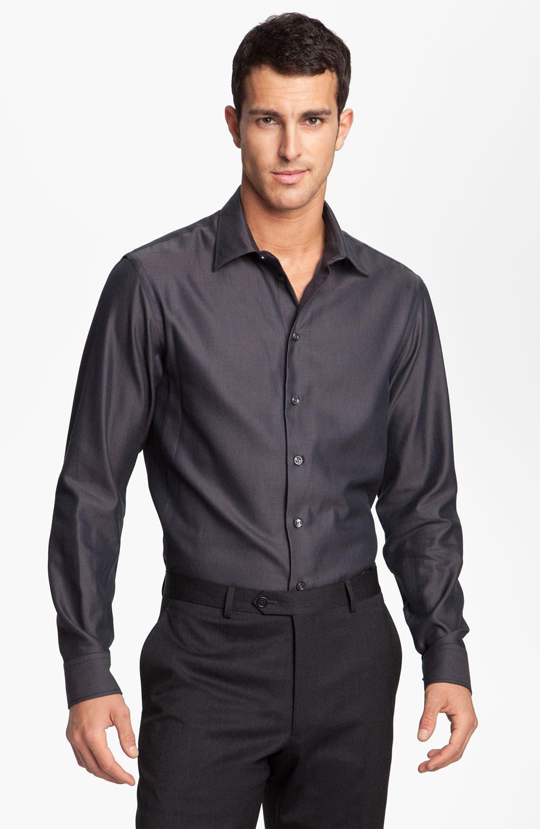 Alternate Image 1 Selected - Armani Collezioni Trim Fit Sport Shirt