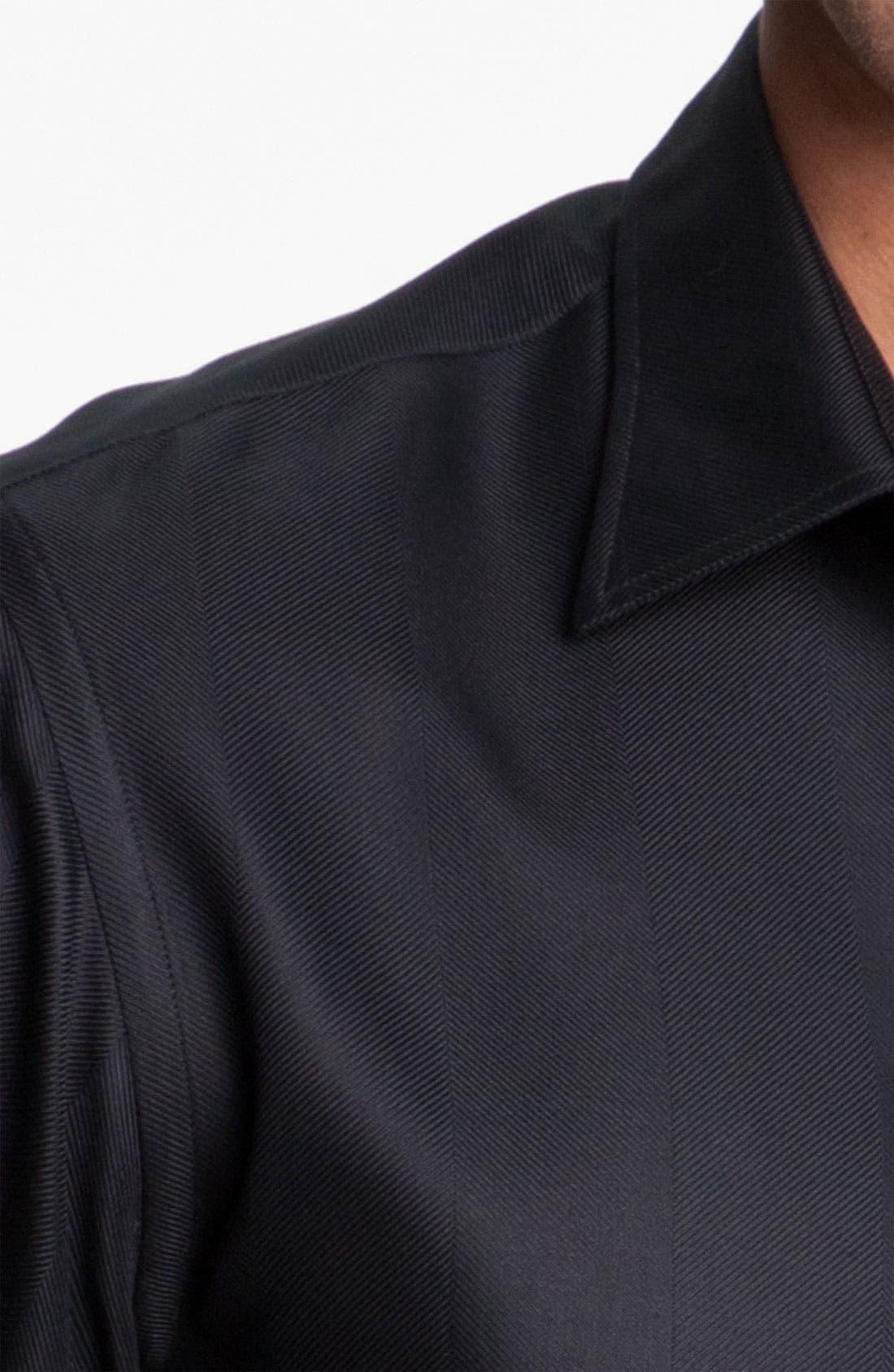 Alternate Image 3  - Armani Collezioni Herringbone Woven Shirt