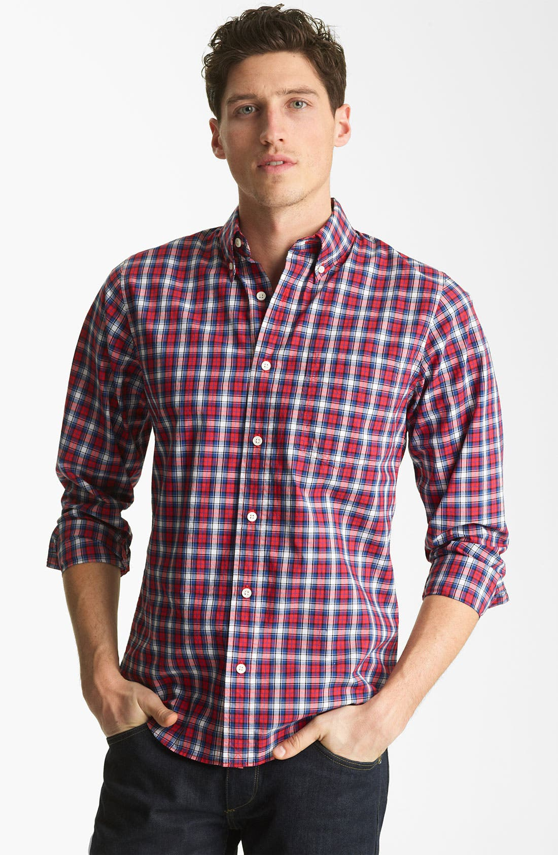 Alternate Image 1 Selected - Jack Spade 'Philips' Plaid Woven Shirt