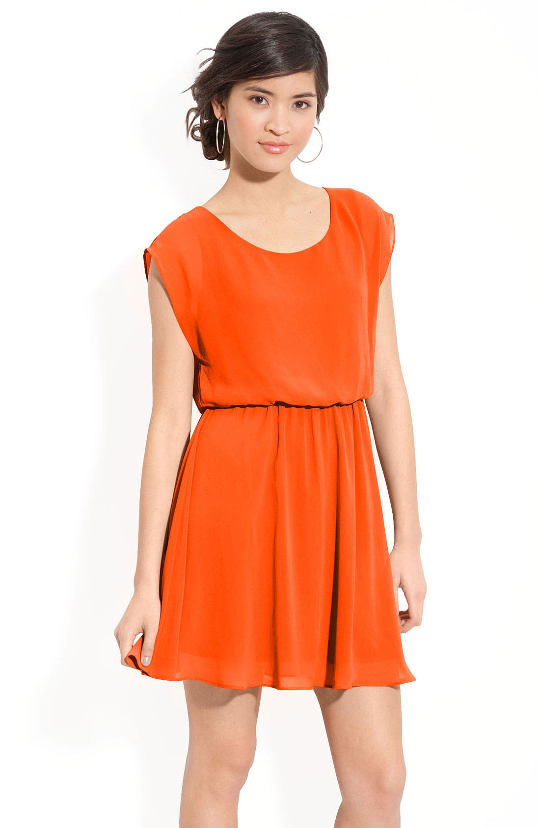 Main Image - Lush 'Harper' Chiffon Dress (Juniors)