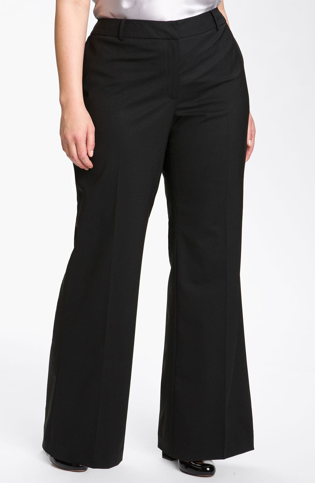 Main Image - Lafayette 148 New York 'Delancy' Stretch Wool Trousers (Plus)