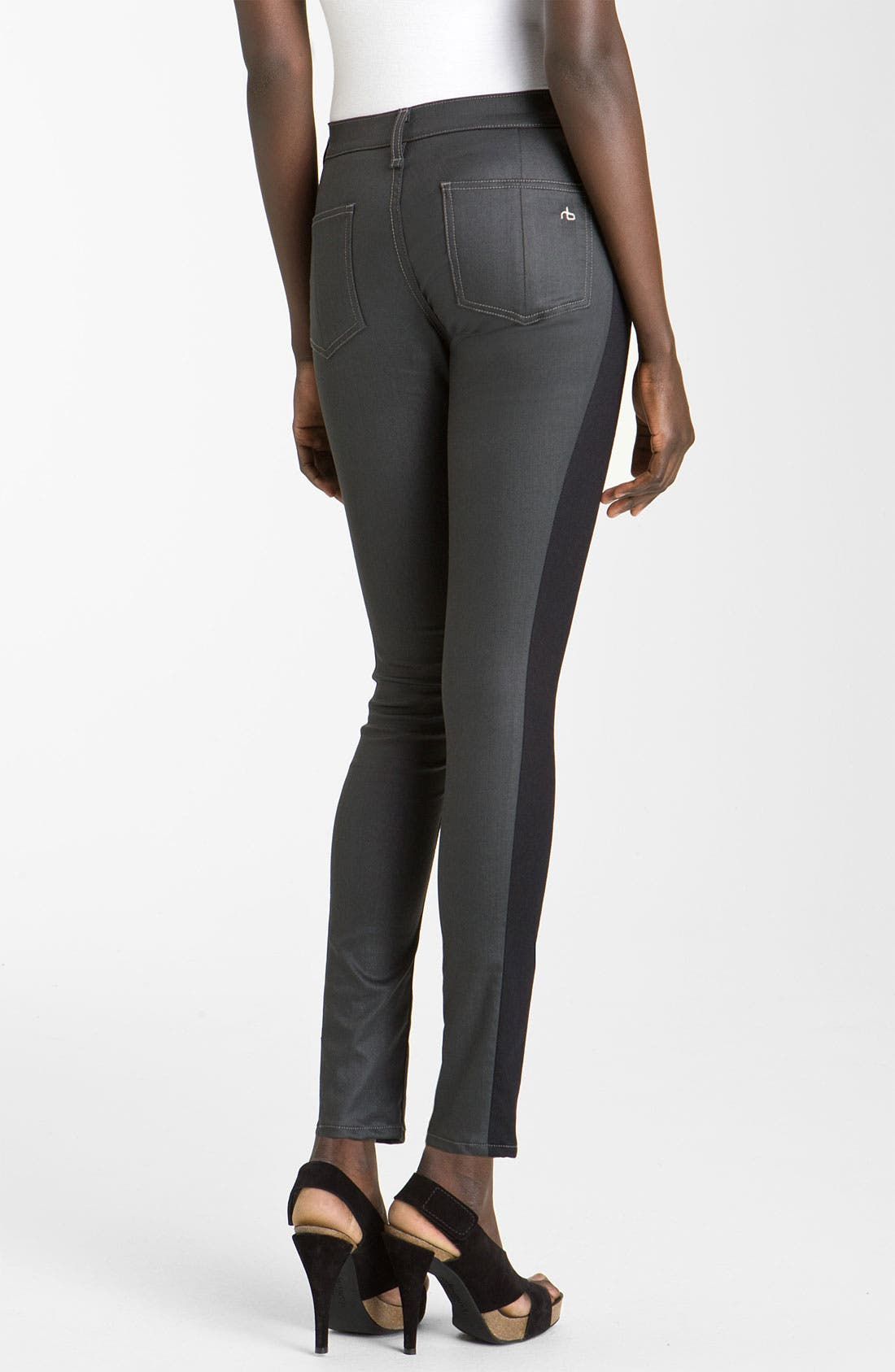 Alternate Image 2  - rag & bone/JEAN Slim Tuxedo Stripe Jeans