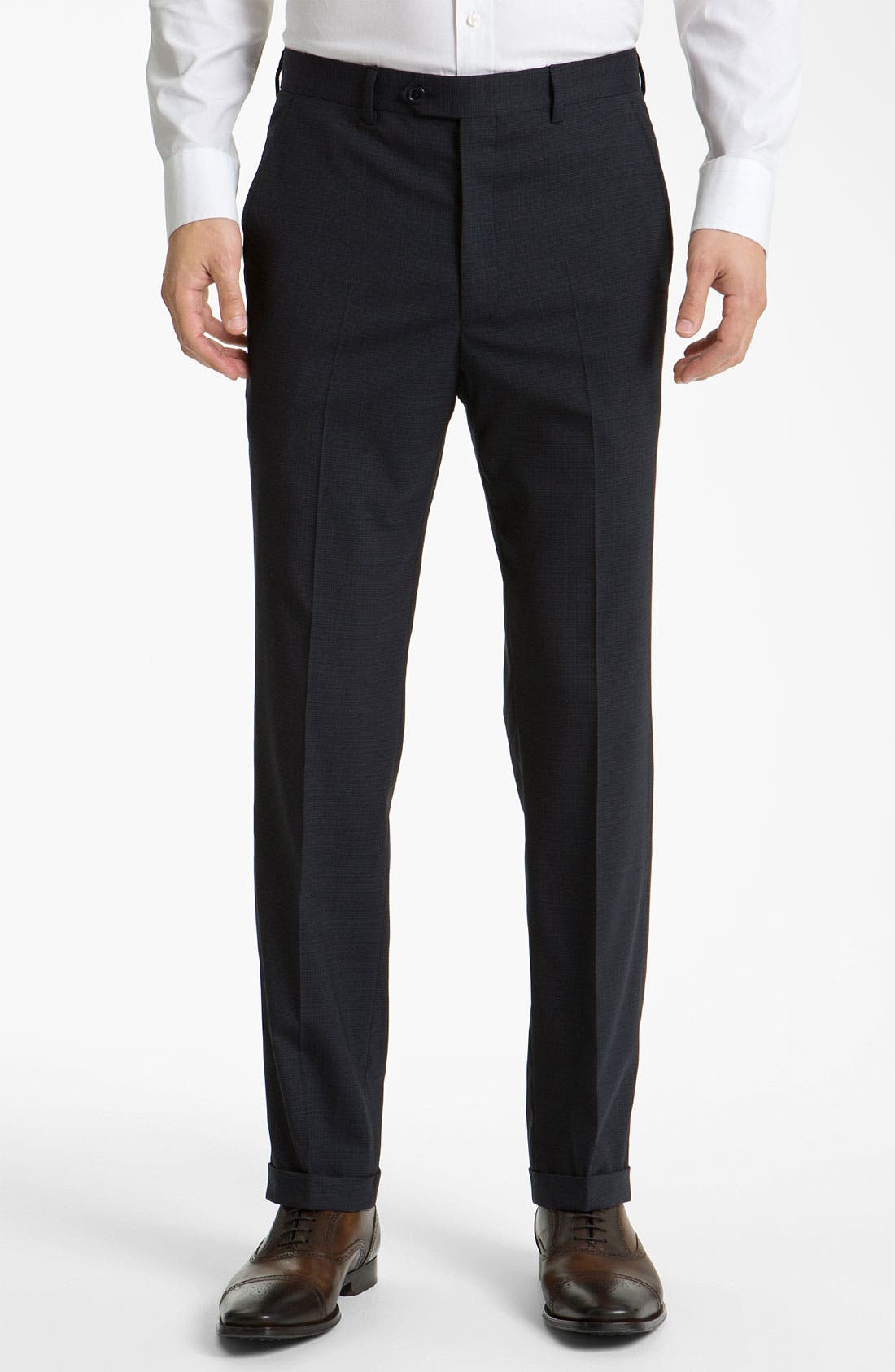 Alternate Image 1 Selected - Santorelli Flat Front Trousers