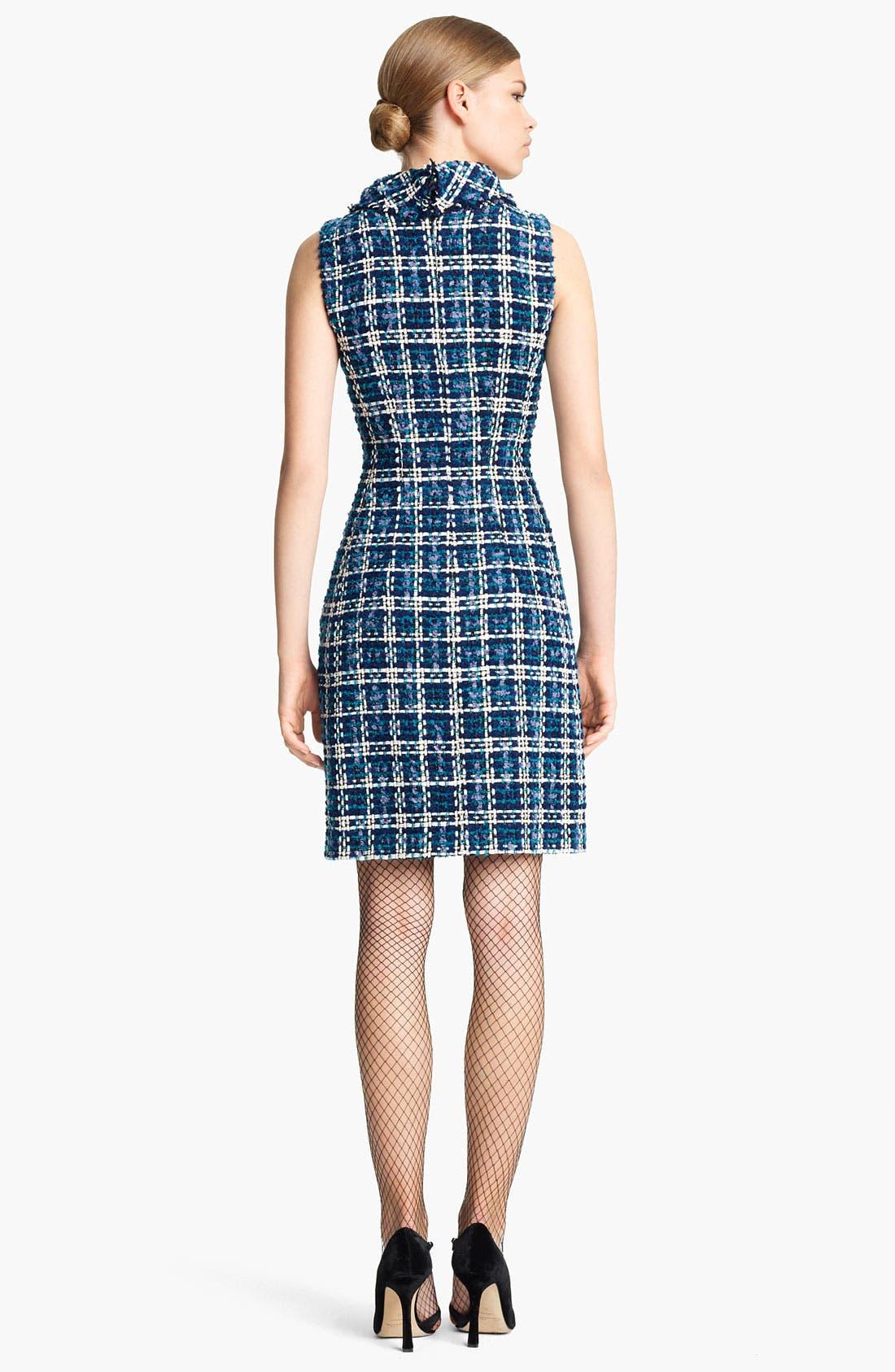 Alternate Image 2  - Oscar de la Renta Tweed Sheath Dress