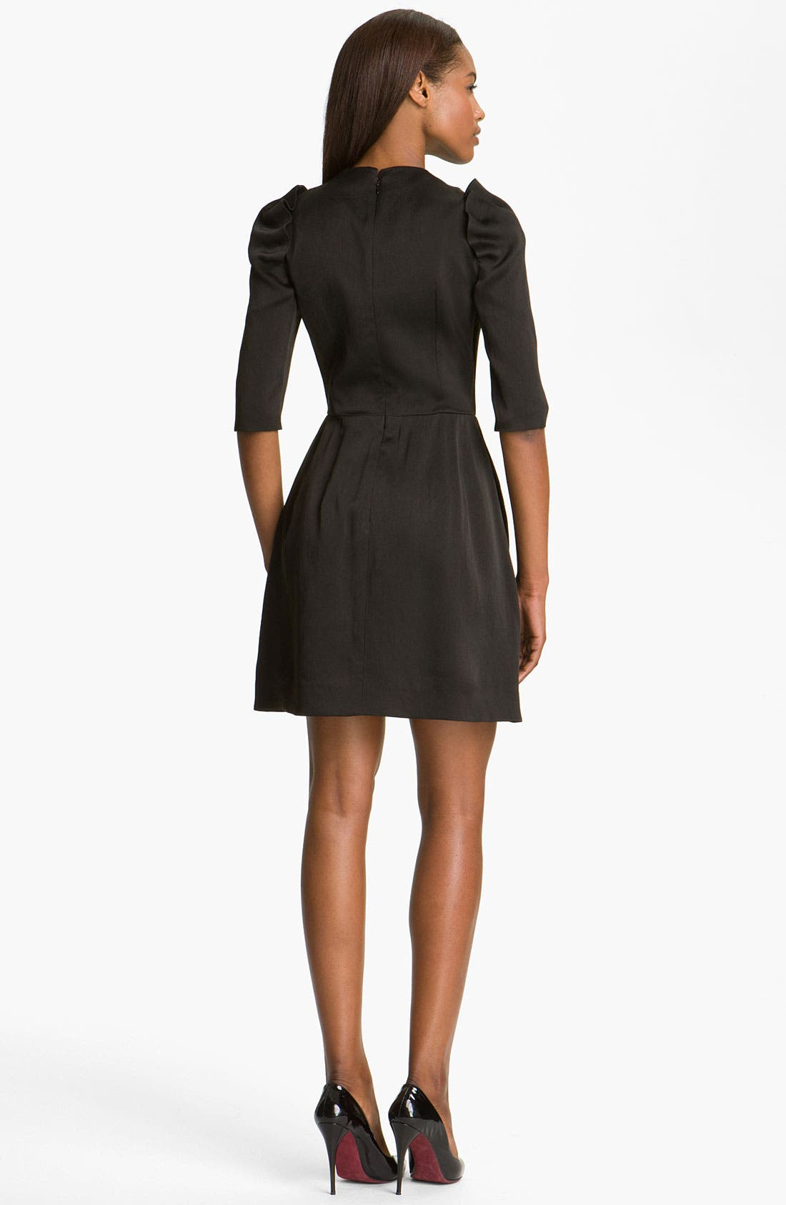 Alternate Image 2  - Carven Puff Shoulder Organza Dress