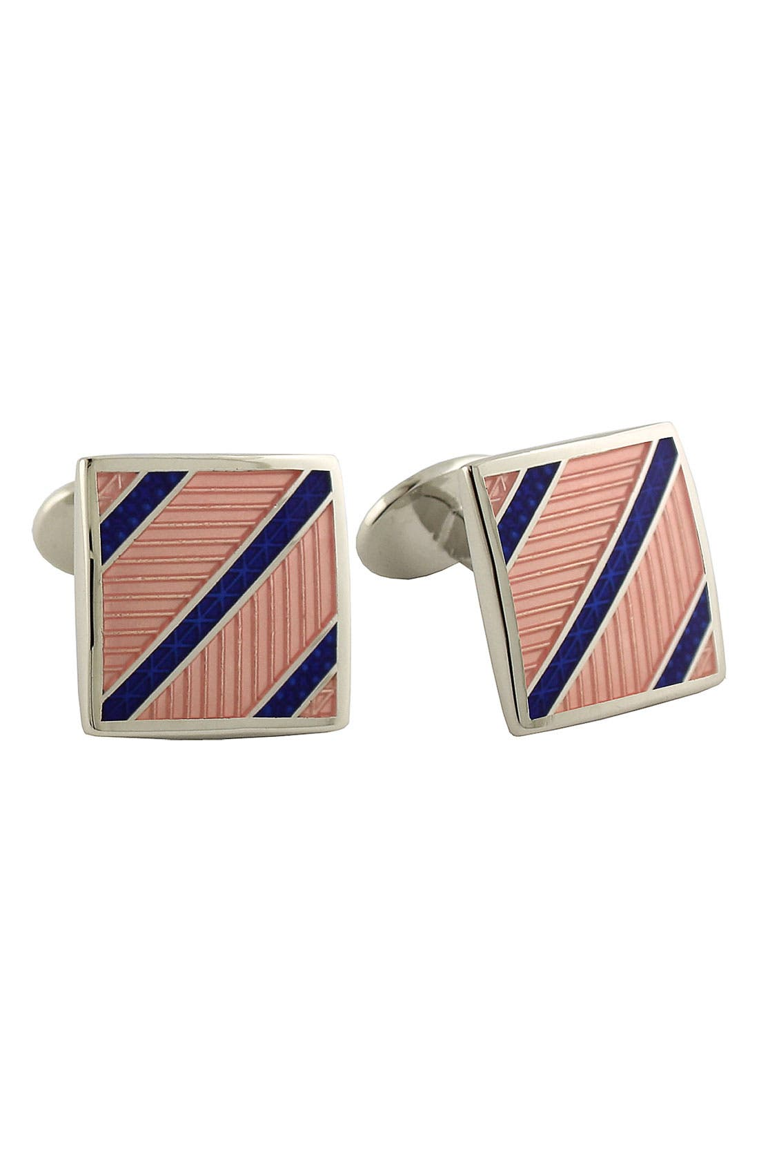 Main Image - David Donahue 'Diagonal Stripe' Cuff Links