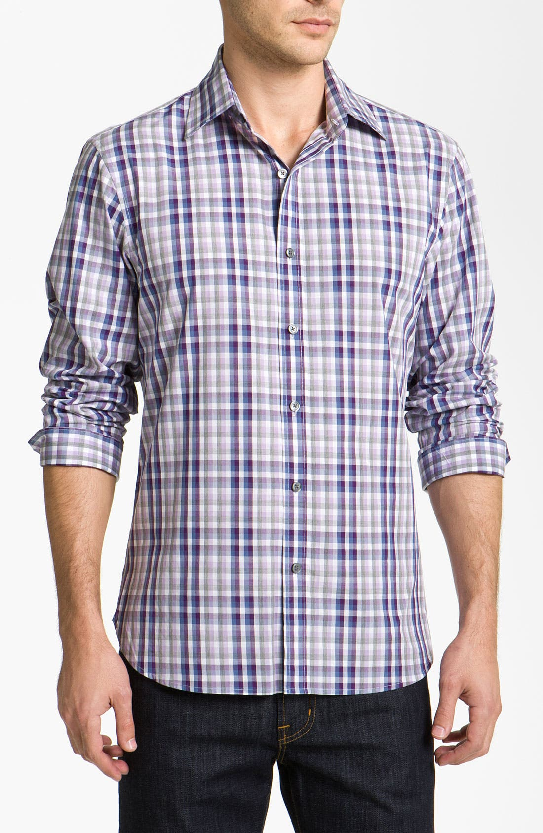 Alternate Image 1 Selected - Michael Kors 'Rhodes' Check Woven Shirt