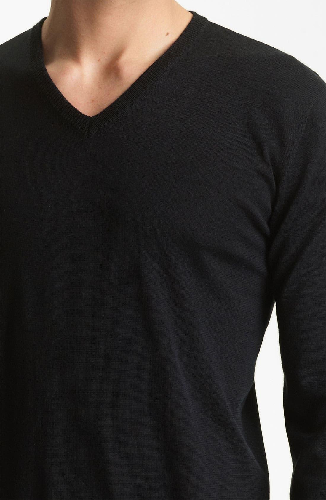 Alternate Image 3  - Armani Collezioni V-Neck Silk & Cotton Sweater