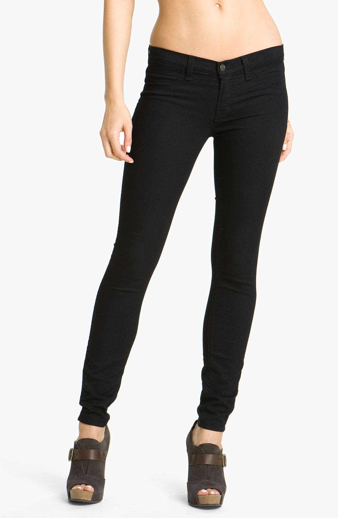 Alternate Image 1 Selected - J Brand 'Legging' Stretch Jeans (Pitch Wash)