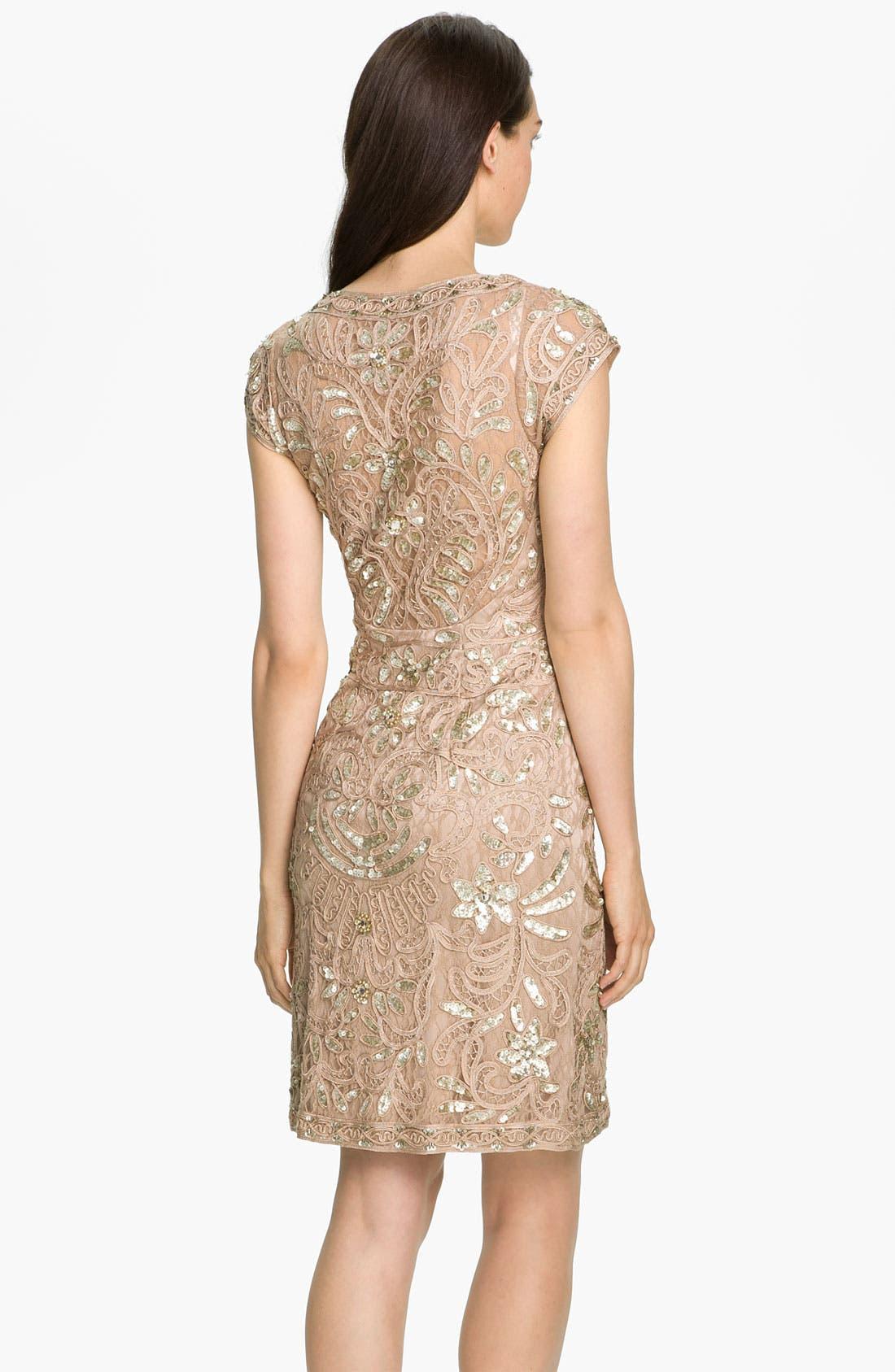 Alternate Image 2  - Sue Wong Beaded Soutache Sheath Dress