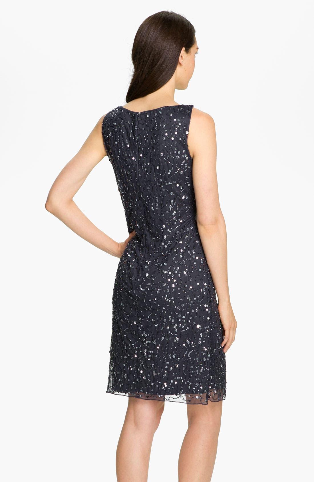 Alternate Image 2  - Patra Embellished Knot Front Mesh Dress