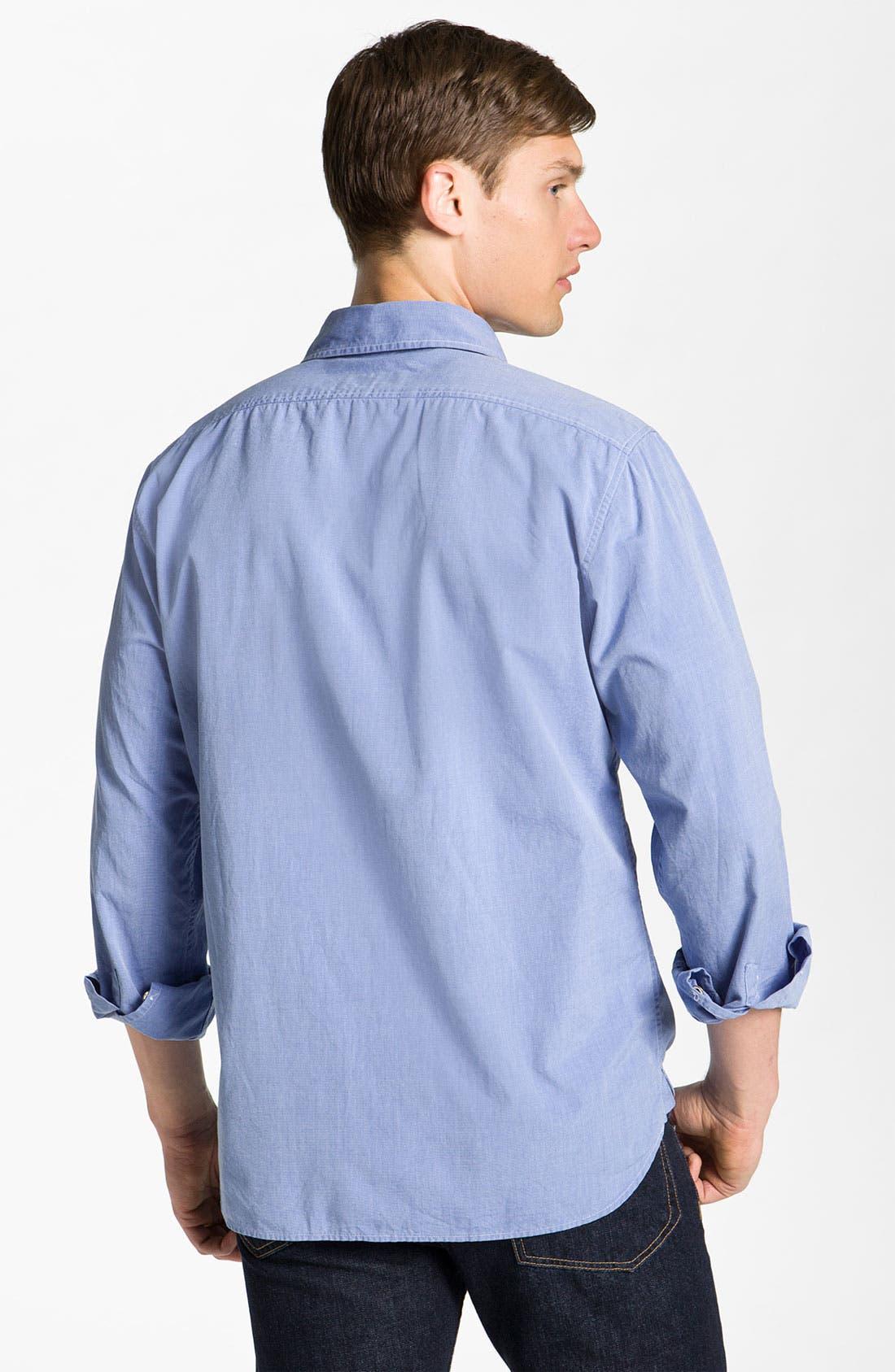 Alternate Image 2  - rag & bone Washed Cotton Sport Shirt