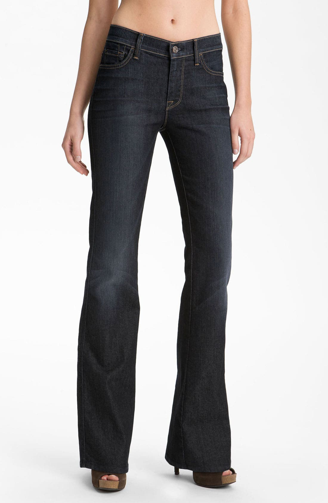 Alternate Image 1 Selected - 7 For All Mankind® Bootcut Jeans (Blue Canyon)