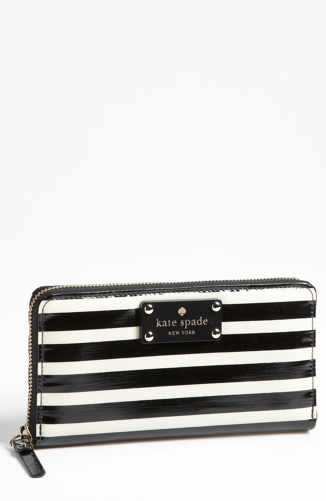 Alternate Image 1 Selected - kate spade new york 'stripe lacey' zip around wallet