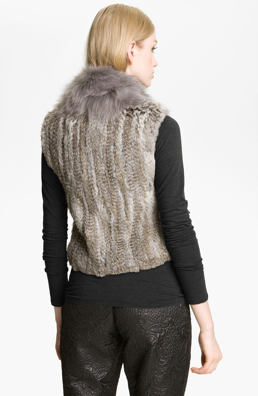 Alternate Image 2  - Elizabeth and James 'Sean' Genuine Rabbit & Coyote Fur Vest