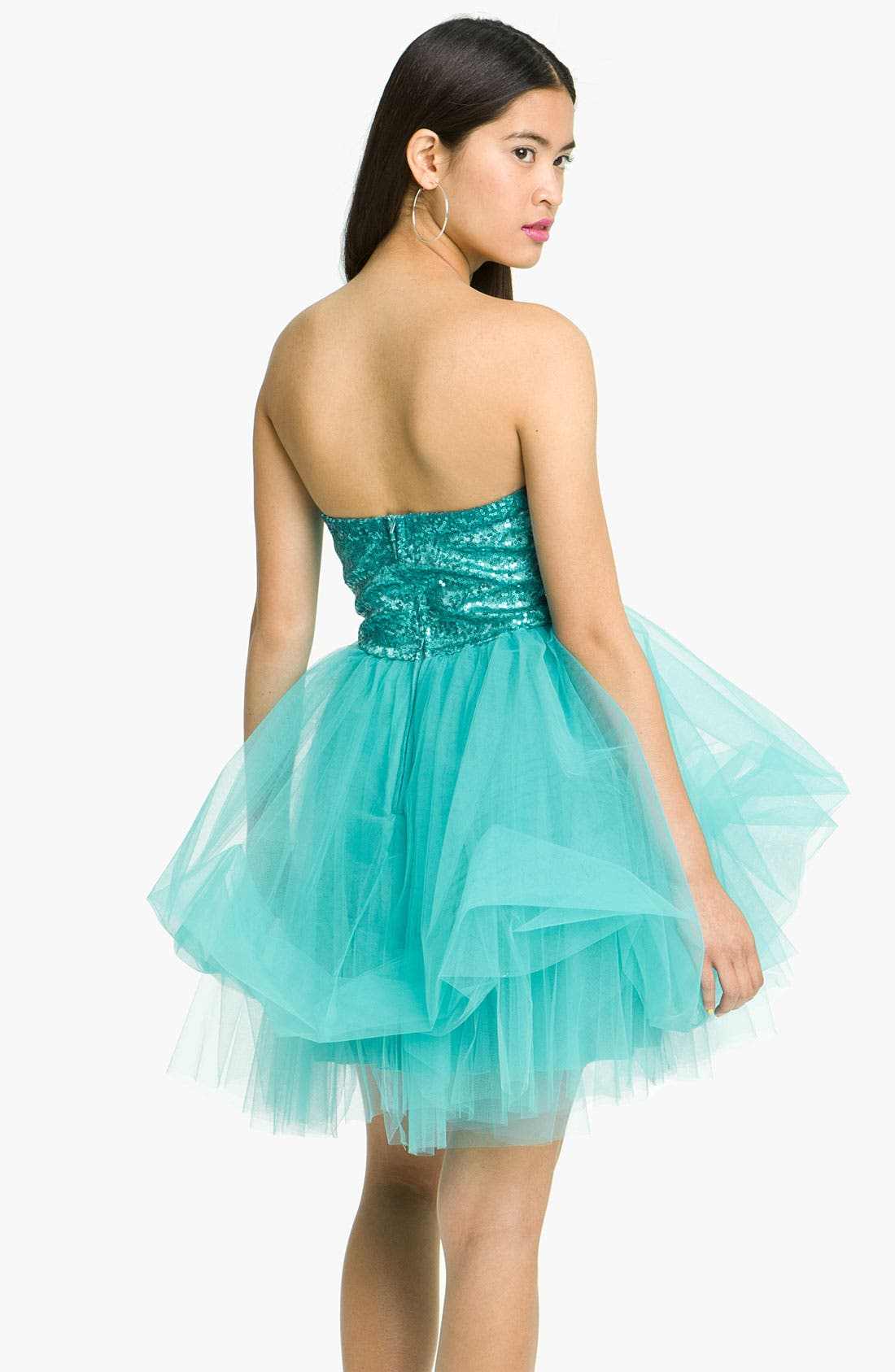 Alternate Image 2  - Trixxi 'Ballerina' Dress (Juniors)