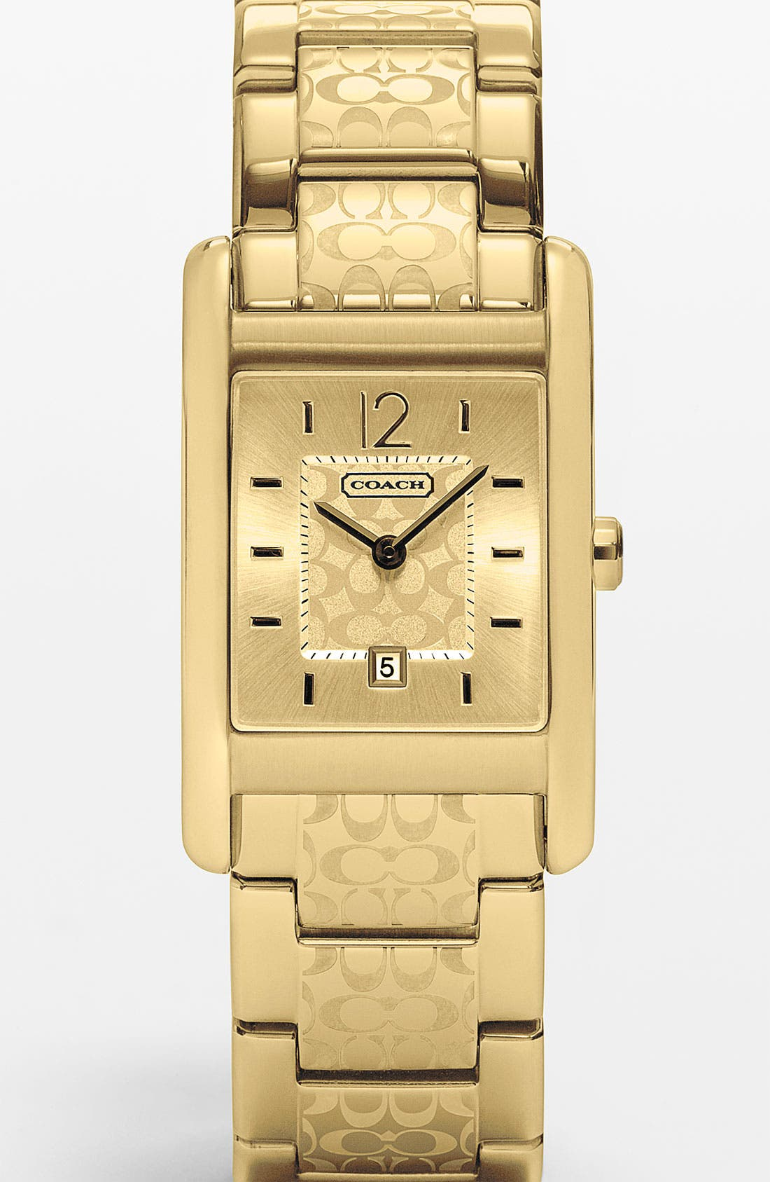 Alternate Image 1 Selected - COACH 'Carlisle' Square Bracelet Watch