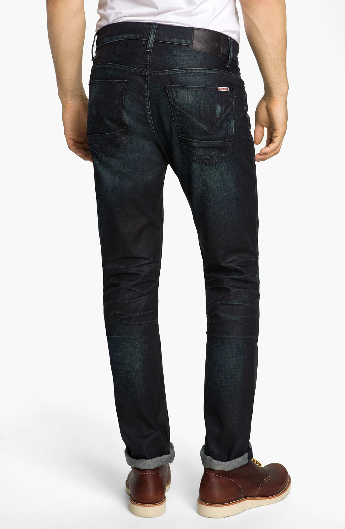 Alternate Image 1 Selected - Hudson Jeans 'Dandy' Slouchy Straight Leg Jeans (Solitaire)