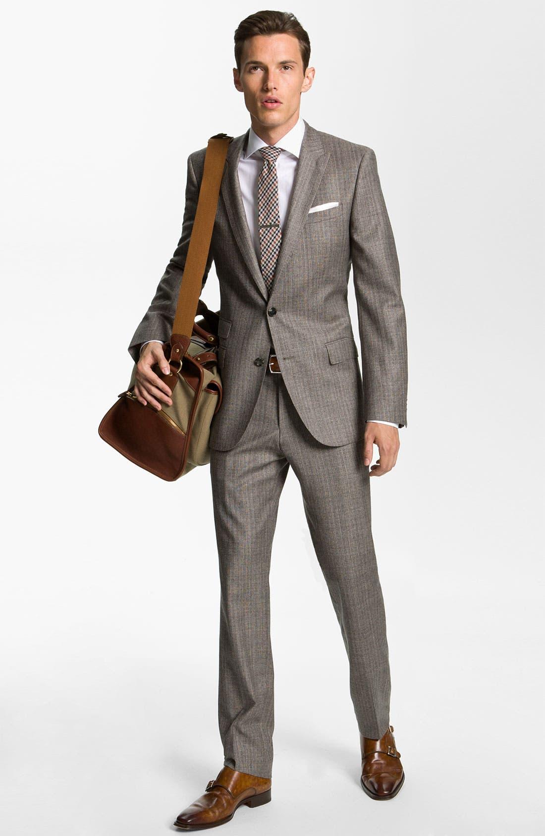 Alternate Image 2  - BOSS Black 'Hold Genius' Trim Fit Plaid Suit